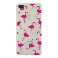 Transparente rosa Flamingo-Hülle für iPhone 7 Plus 8 Plus Hülle