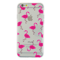 Transparente rosa Flamingo TPU Hülle iPhone 6 6s