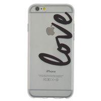 TPU transparente Hülle für iPhone 6 6s Love Cover