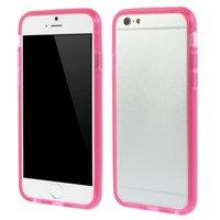 Rosa transparente Stoßstangenhülle für iPhone 6 6s Schutzhülle