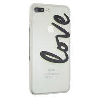 Liebe Fall transparente Abdeckung iPhone 7 Plus 8 Plus transparente Abdeckung TPU