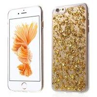 Transparente TPU Hülle Snippertje Blattgold iPhone 6 Plus 6s Plus Gold Hülle