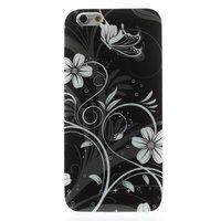 Schwarz weiße Blumen TPU Fall für iPhone 6 6s Fall