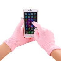 Winter Touchscreen Handschuhe hellrosa Wolle