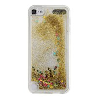 Klare Hülle iPod Touch 5 6 7 Gold Glitter Moving Cover