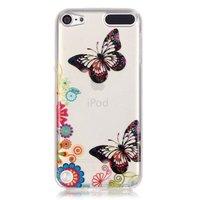 Bunte Hülle Schmetterlinge Blumen iPod Touch 5 6 7 durchscheinende Hülle