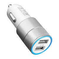 Universal Silver Autoladegerät - Dual USB 2.4 Ampere - Autoladegerät silber
