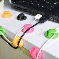Kabelhalter Doppel 12 Kabel Kabel Organizer Clips - grün rosa orange