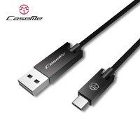 Caseme USB-zu-USB-C-Kabel 1,2 m - Ladekabel schwarz