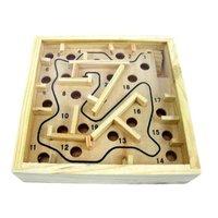 Holzmarmor-Puzzle - Maze Maze Balance