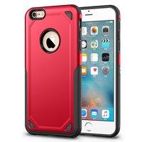 Pro Armor Shockproof iPhone 6 6s Hülle - Schutzhülle Rot - Extra Schutz rot
