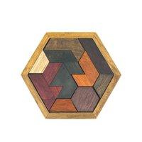 Wooden Hexagon Puzzle - Thinking Puzzle - Schwieriges Spiel und schön als Geschenk