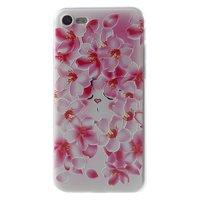 Peach Flower iPhone 7 8 SE 2020 TPU-Hülle - Pink White