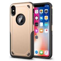 Stoßfeste Pro Armor iPhone X XS Hülle - Schutzhülle Gold - Zusätzlicher Schutz
