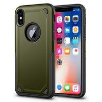 Stoßfeste Pro Armor iPhone X XS Hülle - Schutzhülle Grün - Zusätzlicher Schutz