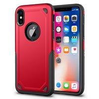Stoßfeste Pro Armor iPhone X XS Hülle - Schutzhülle Rot Rot - Zusätzlicher Schutz