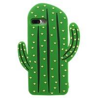 Silikonkaktushülle iPhone 7 Plus 8 Plus Hülle - Grün
