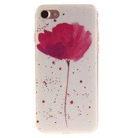Mohn TPU Hülle iPhone 7 8 SE 2020 - Weiß Pink