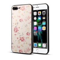 Klassische Blumenhülle für iPhone 7 Plus 8 Plus - Pastellrosa