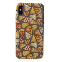 Transparente Pizza Hülle TPU Hülle iPhone X XS - Transparent