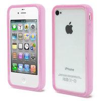 iPhone 4 4S 4G Stoßstangenhülle Silikon - Pink