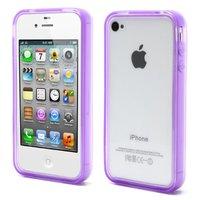 iPhone 4 4S 4G Stoßstangenhülle Silikon - Lila