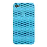 Mesh iPhone 4 4S Case Lochabdeckung Hardcase - Hellblau