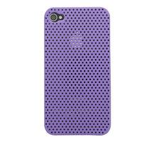 Mesh iPhone 4 4S Case Lochabdeckung Hardcase - Lila