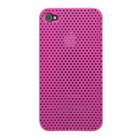Mesh iPhone 4 4S Case Lochabdeckung Hardcase - Pink