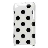 iPod Touch 4-Ärmel Polkadot Muster Punkte Hülle Hülle - Weiß