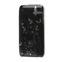 iPhone 3 3G 3GS Hartschalenkoffer anmutige Blume schöner Druck - Schwarz