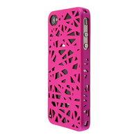 iPhone 4 4s Vogelnest Beutel Abdeckung Fall Vogelnest Design - Pink