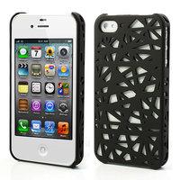 iPhone 4 4s Vogelnest Beutel Abdeckung Fall Vogelnest Design - Schwarz