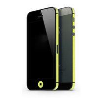 Autoaufkleber iPhone 5 5s SE 2016 Dekor Farbe Rand Haut - Gelb