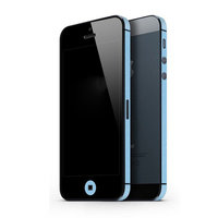 Autoaufkleber iPhone 5 5s SE 2016 Dekor Farbe Rand Haut - Hellblau
