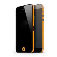 Autoaufkleber iPhone 5 5s SE 2016 Dekor Farbe Rand Haut - Orange