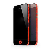 Autoaufkleber iPhone 5 5s SE 2016 Dekor Farbe Rand Haut - Rot
