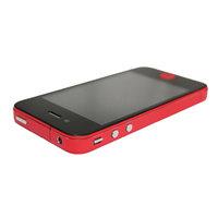 Dekor Farbe Rand iPhone 4 4s Autoaufkleber Haut - Rot