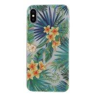 Tropische Blätter Blumenetui iPhone X XS - Transparent