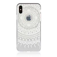 Klare Mandala iPhone X XS Hybrid TPU Hartschalenhülle - Weiß