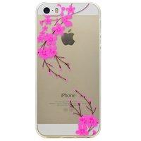 Blütezweig anmutige Hülle TPU Hülle iPhone 5 5s SE 2016 - Transparent Pink