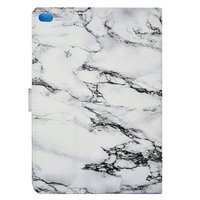 Marmorabdeckung Marmortasche iPad 2017 2018 - Weißgrau