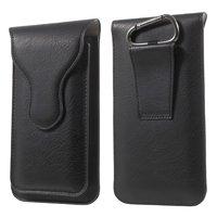 Ledertasche Doppelhülle iPhone Universal - Black Carabiner