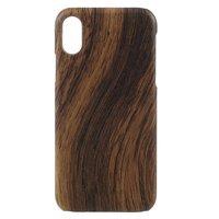 Holz Hartschalenkoffer iPhone X XS - braun