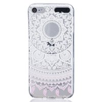 Mandala transparentes Gehäusemuster TPU-Gehäuse iPod Touch 5 6 7 - Weiß Hellrosa