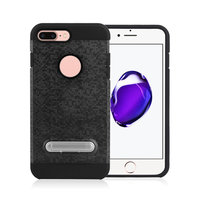 Mosaikhülle Standard TPU Kunststoff Hybridhülle iPhone 7 Plus 8 Plus - Schwarz