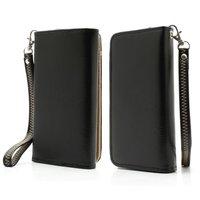 Universal Brieftasche Smartphone Hülle Brieftasche Armband Bücherregal - Schwarz