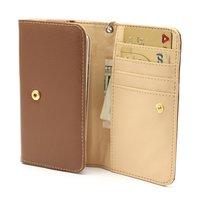Universal Brieftasche Smartphone Hülle Brieftasche Leder Bücherregal - Braun