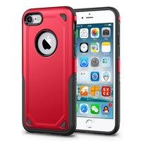 Stoßfeste Pro Armor iPhone 7 Hülle - Schutzhülle Rot - Zusätzlicher Schutz - Rot
