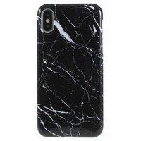 Marmortasche TPU Marmortasche iPhone X XS - Schwarz